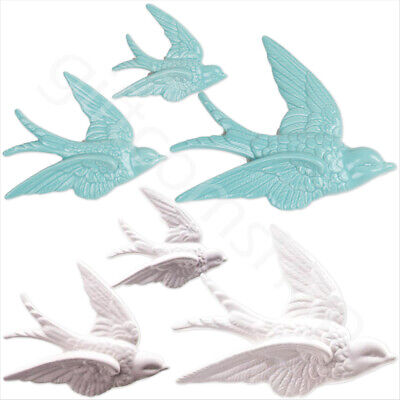 Vintage Style Set of 3 Flying Swallows Birds Wall Hanging Home Decoration Gift
