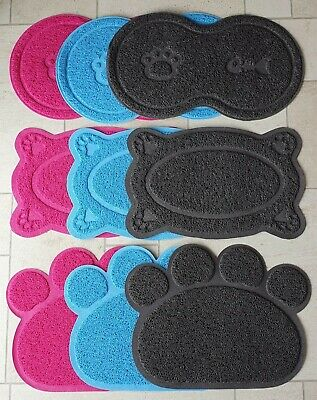 Cats Paw Print Litter Tray Mat Cat Pet Pets Toilet Tidy Clean