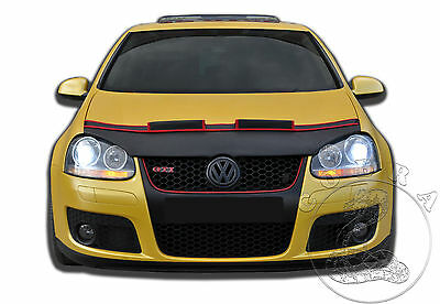 VW Volkswagen Golf MK5 Rabbit BRA MASK 04 05 06 07 08 Car Hood Mask Bra RED FELT