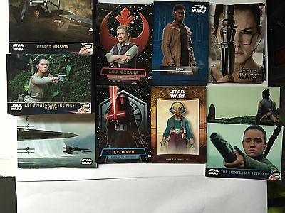 2016 Star Wars The Force Awakens Series 2 Master Set 170 Cards, SP 101,102