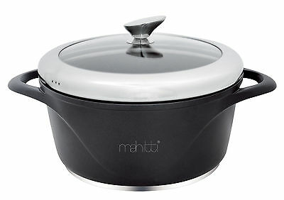 *NEW* Mahitti 28cm Die Cast Ceramic Non-Stick Casserole Sauce Pan with Glass Lid