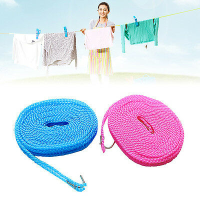 Fences Windproof Clothesline Indoor Outdoor Travel Rope Washing line 3M/ 5M