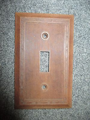 Vintage Bakelite Leviton Brown 1 Gang 1 Switch Plate Cover Mcm