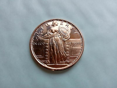 2 x 1/2 oz Copper Standing Liberty Coin - Golden State Mint
