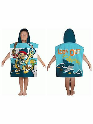 New Jake And The Never Land Pirates Boys Kids Hooded Poncho Beach Bath Towel