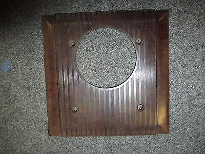 Vintage Bakelite  Brown Switch Plate Cover Double W Hole Mcm Arrow H&h Uniline