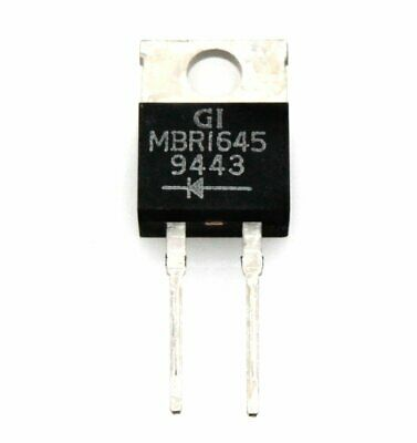 Schottky 16Amp Diode in TO-220AB type package - Lot of 3 ( MBR1645CT )