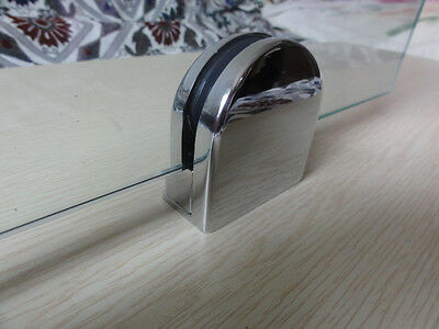 Glass Clamps, D Shaped Glass Clamps for Glass Balustrade Stainless Steel