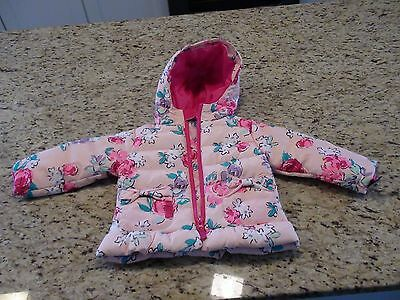 84d8bb5c8752 NWT! CHEROKEE TODDLER Girls All Weather Pink Puffer Jacket Size 12M ...