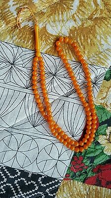Amber Bakelite  Kehribar Faturan Prayer Beads Ottoman Full 99 Beads Original