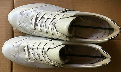 *BRAND NEW* Ecco Street Luxe Golf Shoes Spikeless Women  Size 41 - White/Steel