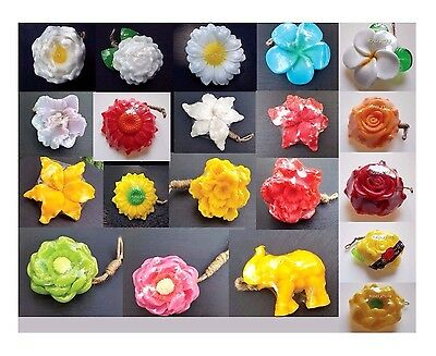 50x Worth Mix Flower Shaped Soaps Lot Aromatic Body Bath Spa Skincare Thai Craft