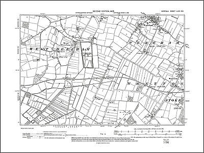 West Rudham Old map of Harpley Norfolk in 1906 24SW repro
