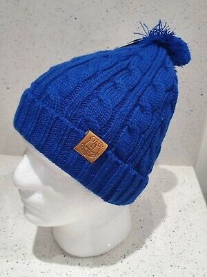 Official Everton Cable Bobble Hat with Club Crest - Royal Blue - Great Xmas idea
