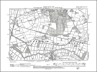 Old map of Stanhoe Barwick Norfolk in 1906 15NW repro