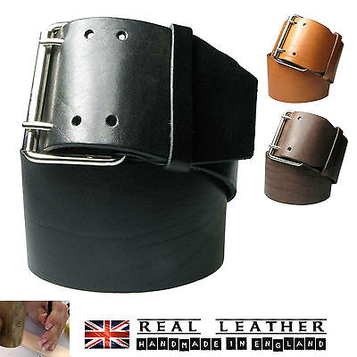 """3"""" Ladies Full Grain Hide Real Leather Hipster Belts Made In UK LHC-010"""