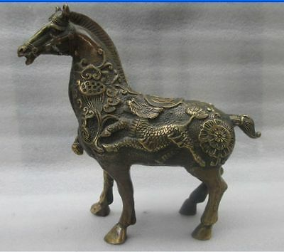 China's rare copper old manual hammer a thriving business the statue of a horse