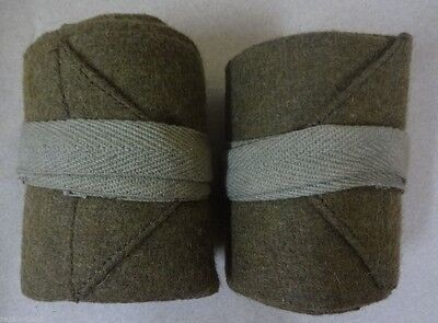 Ww1 Canadian Army Wool Wraps / Putty / Putties - Replica