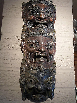 original asian,( tibetan ?) tribal / ceremonial mask 1940s