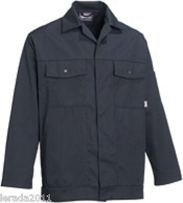 Work Jacket Bottle Green Or Spruce (Grey) Polycotton Industrial Top Quality