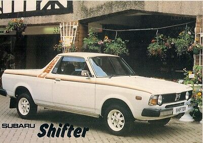 Subaru 1800 Shifter Pick-Up 1981-82 UK Market Leaflet Sales Brochure