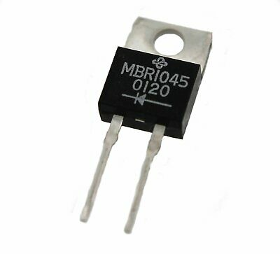 Schottky 10Amp Diode in TO-220 type package - Lot of 3 ( MBR1045CT )