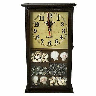 Charles - Vintage Wooden Wall Clock with Hidden Key / Storage Compartment