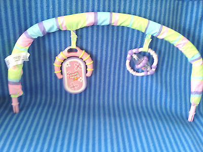 646b0c600ae6 BRIGHT STARTS PRETTY in Pink Bouncer Toy Arch Replacement Part ...