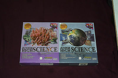 Junior High Science Semester 1 & 2 Combo Set NEW & SEALED 12 Discs WIN2000/MAC 7