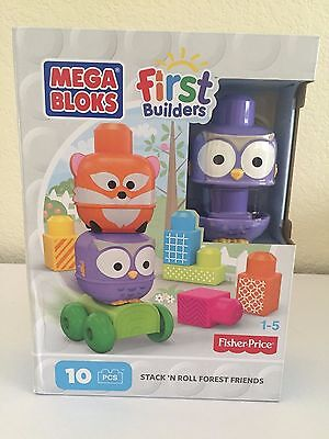 MEGA BLOCKS Fisher Price First Builders Stack'n Roll Forest Friends (10 pcs) 1-5