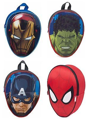Boys Kids Marvel Character Avengers Spiderman Backpack School Kids Rucksack New