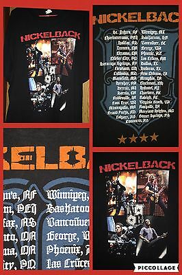 Nickelback Tour Concert Black Graphic Tshirt Adult Size XL Rock Band