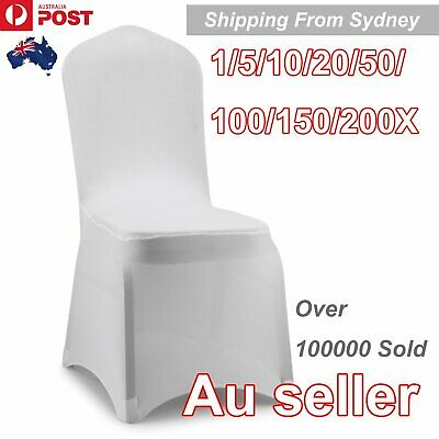 1-200Pcs White Chair Cover Covers Spandex Lycra Folding Banquet Wedding Party Do