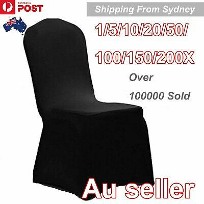 1-200Pcs Black Chair Cover Covers Spandex Lycra Folding Banquet Wedding Party Do