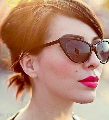 972ff372a2 Large Cat Eye Thin Frame Hot Pin Up Nikita Rockabilly Fashion Sunglasses  Glasses