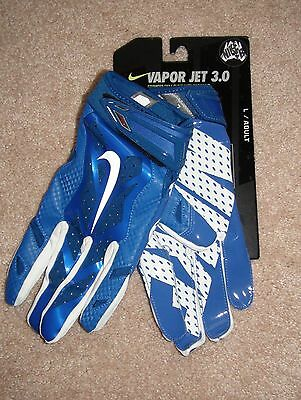 separation shoes d3a0a 3dff6 Men s Nike Vapor Jet 3.0 Football Gloves Royal Blue GF0485 441 Sz M ...