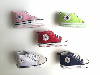 BABY SHOES Infant Toddler Boy Girl Soft Sole Crib Sneaker All Star Converse NEW