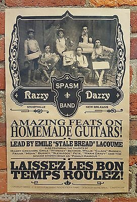 """""""Razzy Daddy Spasm Band"""" Historic-themed 12x18-inch Poster - Printed in the USA!"""