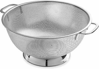 Micro Perforated Stainless Steel Colander 5 Quart Bellemain Dishwasher Safe