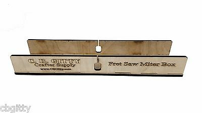 """Laser-cut Fretting Miter Box Kit for guitar necks & fretboards up to 2.5"""" wide"""