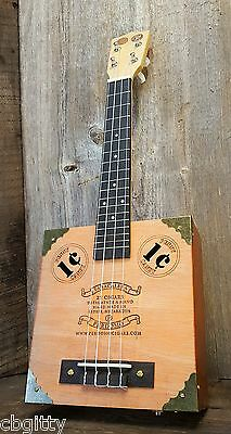 "The Vaudeville Cigar Box Ukulele - featuring ""1¢"" Sound Holes and Vintage Coins"