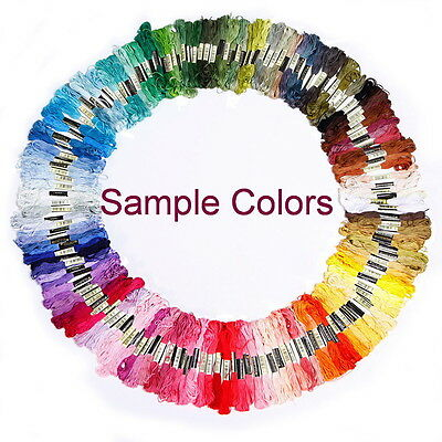 50x Cross Stitch Floss Skeins Embroidery Sewing Thread Same DMC Number and Color