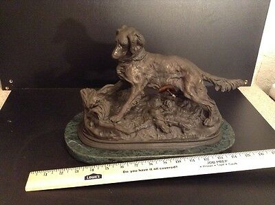 Antique P.j Mene Bronze Sculpture Of Dog Very Rare Original Absolutely Must See!