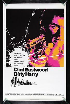DIRTY HARRY * CineMasterpieces ROLLED NEVER FOLDED ORIGINAL MOVIE POSTER 1971