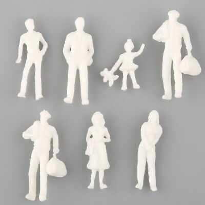 100PCS Figures 1:200 Scaled for Models Train Building Unpainted People Layout