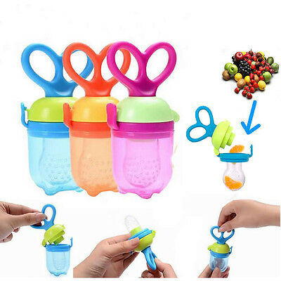 Baby Nipple Feeding Bottle Fruit Food Pacifier Feeder Rotating Feeding Tool New