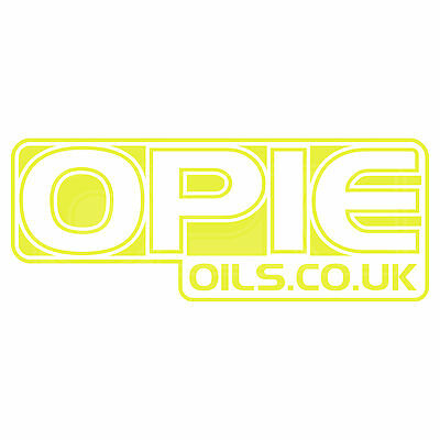 12 inch 2 x White Opie Oils Decal Set