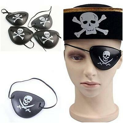 10× Adult Pirate Black Leather Eye Patch Eyepatch Fancy Dress Costume Accessory