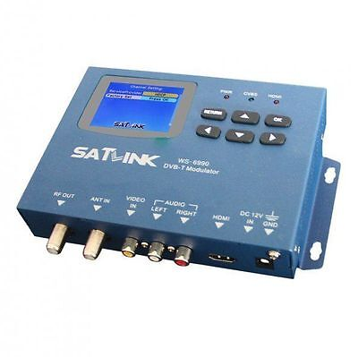2016 New Satlink WS-6990 Signal Finder 1 Route DVB-T Modulator/ HDMI
