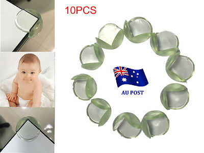 10 x Child Baby Safety Silicone Protector Table Corner Edge Protection Cover BO